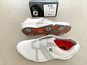 FootJoy ENERGIZE BOA Golf Shoes White UK 8.5 Wide - Ex display