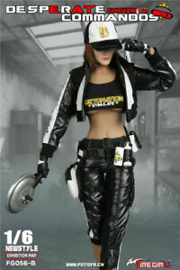 "Fire Girl Toys 1/6 FG056B Desperate Commando Black Fit 12"" Female Action Figure"