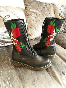 Womens New, Patterned Doc Martins 'Burlesque' Boots UK Size 8