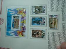 Aus Abo - Olympische Spiele 1980 :  1 Luxus - Block + satz xx KONKO CONGO moskau