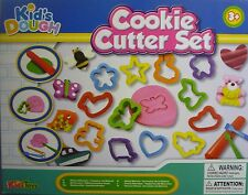 Kids Dough Cookie Cutter 18 Piece Play Dough Toy Set (Dough, Tools, Moulds)