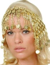 EGYPTIAN Cleopatra Ethnic Gypsy Belly Dancer GOLD PLATED HEADPIECE with COINS