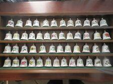 Bradbury Mint 50 State Flower Bone China Bells With Rack