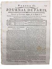 Création des Assignats 1790 Aix Colmar Saint Domingue Journal Révolution France