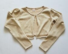 Gymboree Girls Size  L 10-12 Cardigan Gold Cropped Long Sleeve VGUC