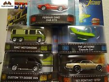 Hot Wheels Retro Entertainment BDT77-996B Motorhome Dodge Van Jetsons GTO