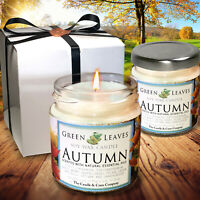 Handmade Fall Soy Candles that smell AMAZING 4oz Jars, Highly Scented Candle