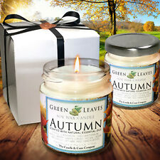 Fall Candle Handmade that smells AMAZING 4oz Jars, Highly Scented Candle Gift