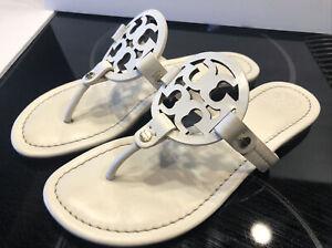 Tory Burch Miller Cream/Off White Sandals Sz  7 1/2 7.5 M