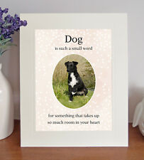 """Patterdale Terrier """"Dog is such a small word"""" 8x10 Picture Lovely Print Fun Gift"""