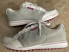 Ashworth G54228 Cardiff Leather Canvas Golf Shoes Sneakers Men's Size 9.5
