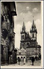 Prag Praha Tschechien 1937 Altstädter Ring Staromĕstské náměsti Kirche Busse