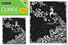 HERO ARTS CLINGS RUBBER Stamp PEACOCK CG184 STUNNING!
