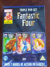 Marvel Fantastic 4 triple DVD set - over 7 hours of action - Brand New