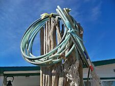 Used Western Decor Used Lariat Ranch Rope Approx 35 foot (2) Blue Pro Minors