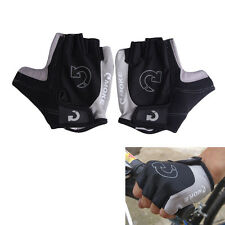 Half Finger GEL Racing Motorcycle Cycling Bicycle MTB Bike Riding Gloves AC Yellow XL