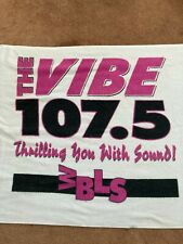 """New listing Wbls 107.5 """"The Vibe"""" Beach Towel from 1995 30""""x54"""""""