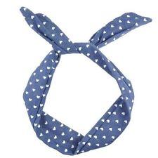 Accessoires de coiffure bandeaux bleues en tissu pour femme