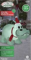 Airblown Inflatable 3.5 Ft Tall Holiday Hippo Christmas Gemmy