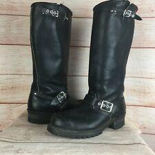 Carolina Black Leather 12 Inch Steel Toe Engineering Boots Sz 8 R Rebel Safety