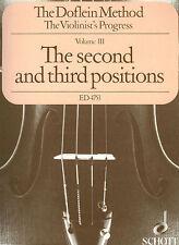 The Doflein Method Volume 3: The 2nd & 3rd Positions New Schott 049005122