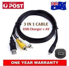 USB AV Video Cable Data Cord For Pentax K100D K10D K110D K2000 K200D K20D K7 AU