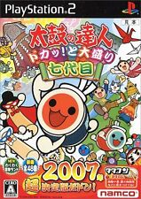 Used PS2 Taiko No Tatsujin bang tap! Toomori7daimei Japan Import