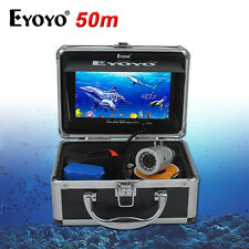 "50m Underwater 7"" TFT LCD Video Camera System Fishing Fish Finder 12x White Led"