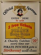 VINTAGE 1980s PITTSBURGH PIRATES PROMO CHARITY POSTER - MLB, K-MART SPONSOR
