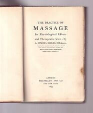 THE PRACTICE OF MASSAGE Its Physiological Effects & Therapeutic Uses ECCLES 1895
