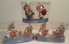 NEW Glass Ornaments Three (3) Sets Holiday Living PLAY individual set of two (2)