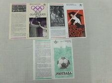 Vintage lot  de 3 feuillets SPORTS ( prévente) 1971, 873, 81