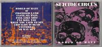 SUICIDE CIRCUS - WORLD OF HATE CD 1995 PERRIS RECORDS ROCK METAL