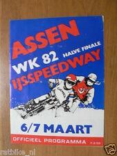 1982 WK IJSSPEEDWAY ASSEN HALVE FINALE 6/7-3-1982 PROGRAMME MET POSTER