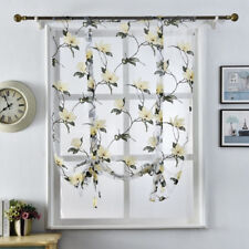 Flower Curtains Kitchen Valance Tulle Sheer Panel Bedroom Window Drape Reliable