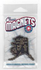 "ALASKA  "" THE LAST FRONTIER  STATE""   OUTLINE MAP MAGNET    in Souvenir Bag, NEW"