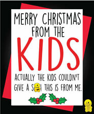 Funny Rude Christmas Card -  Merry Christmas from the KidsXM164