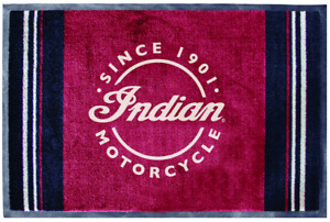 INDIAN MOTORCYCLE BLACK AND RED ICON LOGO HOME DOOR MAT