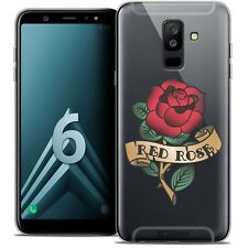 """Coque Crystal Gel Pour Samsung Galaxy A6 PLUS 2018 (6"""") Souple Tatoo Lover Red R"""