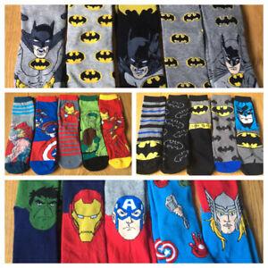 Boys Girls Kids Batman Avengers 5 Pack Ankle Socks UK Size 9-12 12-3 New