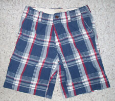 Mens HOLLISTER Plaid Classic Length Bermuda Button Fly Shorts~Red/White/Blue~31