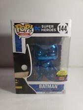 Funko Pop! DC Superheroes Blue Chrome Batman #144 2017 SDCC Exclusive HARDSTACK