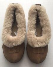 New UGG Australian Rylan Sherpa Sheepskin Womens Sz 5/36 Slippers Chestnut Brown