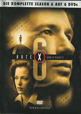 AKTE X - 6. Staffel - David Duchovny & Gillian Anderson - 6 x DVD SET
