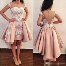 Short Lace Satin Homecoming Cocktail Party Dress Prom Graduation Evening Gown