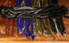 SHIMMER Rabbit Strips #SHR Hareline USA 8 Farben Hasenfell GOLD & SILBER Spitzen
