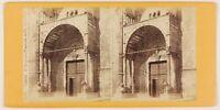 Verona Duomo Italia Foto Stereo Th1L6n20 Vintage Albumina c1870