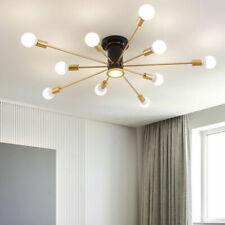 6/10 Lights Mid Century Modern Sputnik Chandelier Semi Flush Mount Ceiling Light