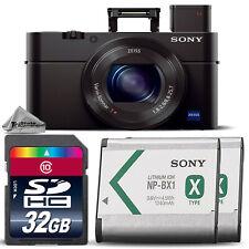 Sony Cyber-shot DSC-RX100 III Digital Camera w/ WiFi & NFC + EXT BATT - 32GB Kit