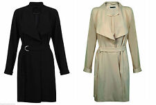 Knee Length Polyester Women's Trench Coats